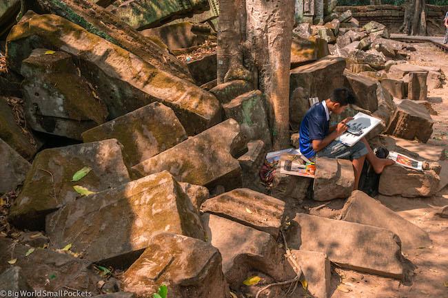 Cambodia, Angkor, Boy
