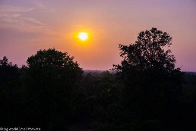 Cambodia, Angkor Wat, Sunset 1