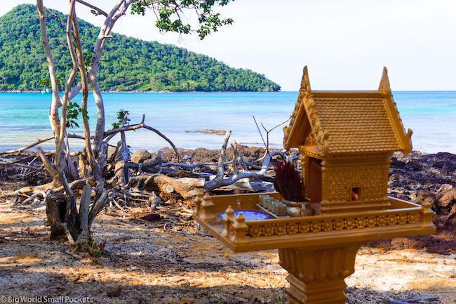 Cambodia, Koh Rong Sanloem, Beach Temple