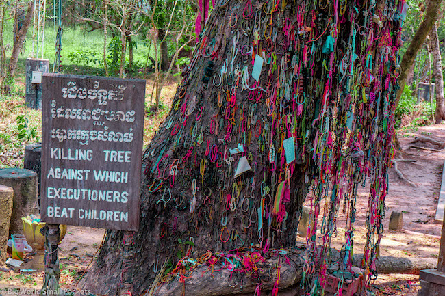 Cambodia, Phnom Penh, Killing Fields Ribbons