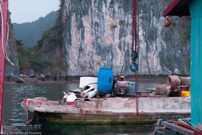 Vietnam, Cat Ba Island, Junk Boat