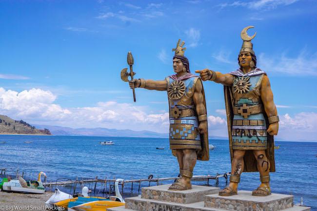 Bolivia, Copacabana, Incan Figures