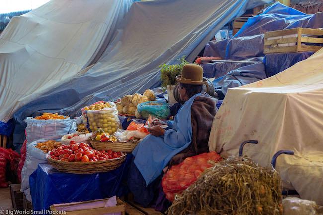 Bolivia, Copacabana, Lady in Market