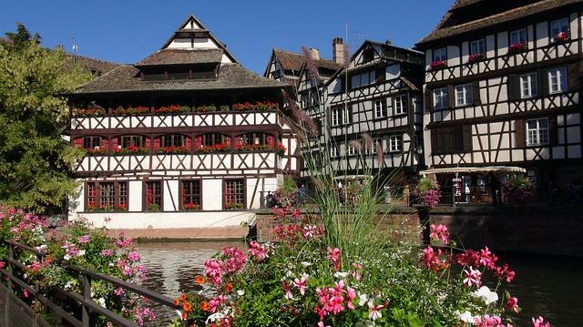 France, Strasbourg, Half-Timber Houses