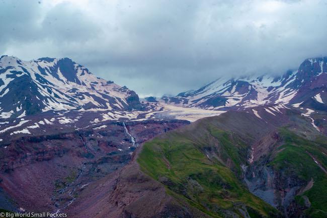 Georgia, Kazbegi, Glacier