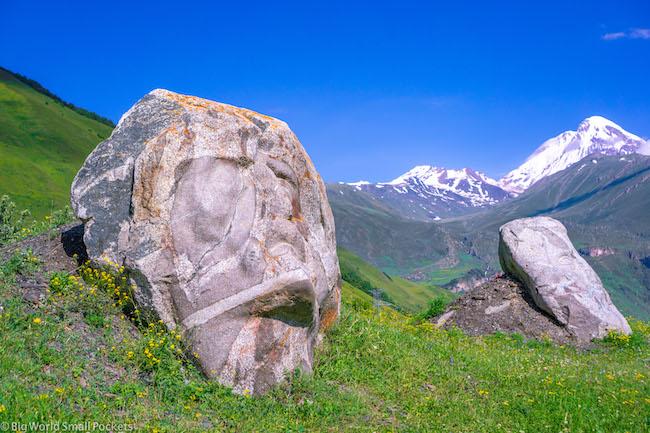 Georgia, Kazbegi, Juta Valley Sculptures