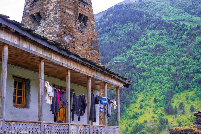 Georgia, Tusheti, Washing Line