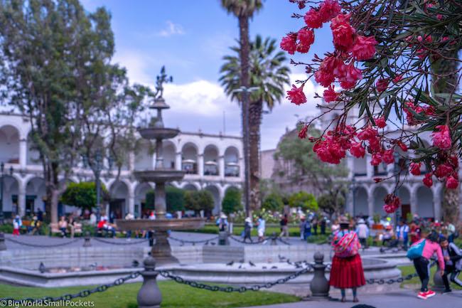 Peru, Arequipa, Plaza Da Armas