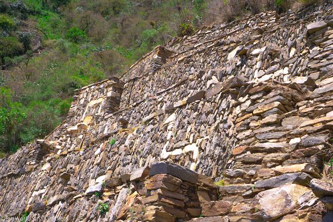 Peru, Choquequirao, Llama Wall