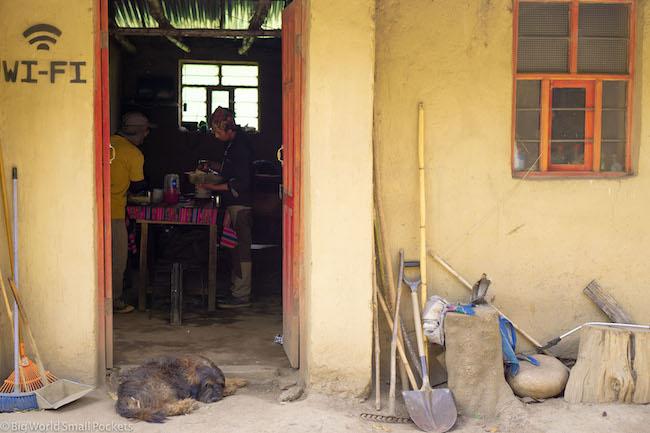 Peru, Choquequirao, Resthouse