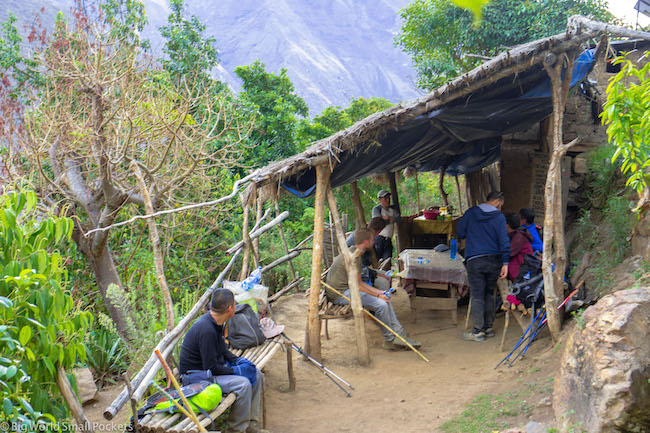 Peru, Choquequirao, Shelter