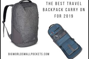 The Best Travel Backpack Carry On for 2019