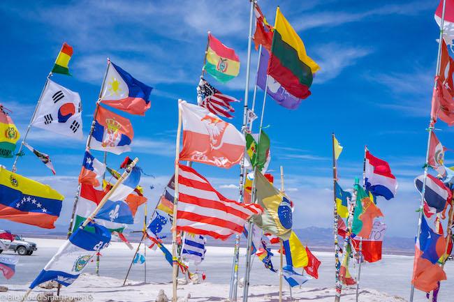 Bolivia, Uyuni, Flags