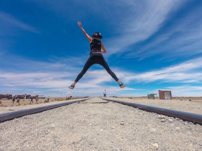 Bolivia, Uyuni, Me Jumping