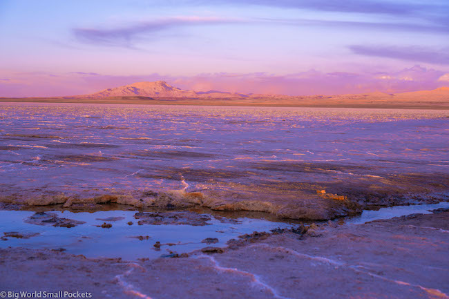 La Paz to Uyuni, Salt Flat, Sunset