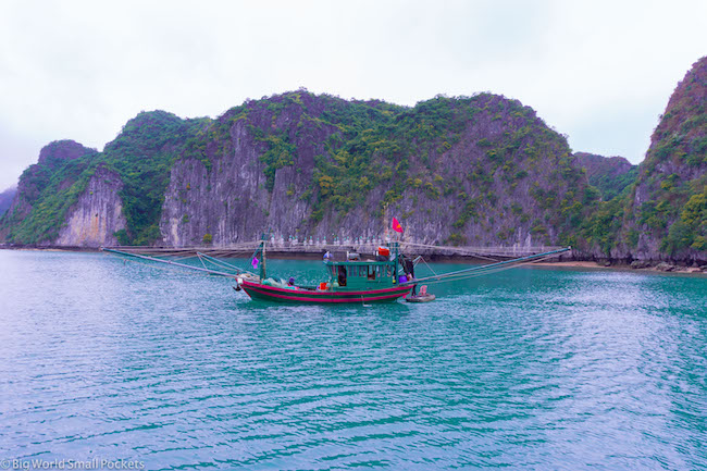 Vietnam, Lan Ha Bay, Fishing Boat