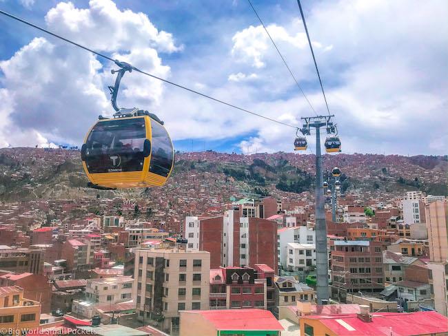 Bolivia, La Paz, Cable Car