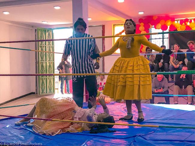 Bolivia, La Paz, Cholita Wrestling