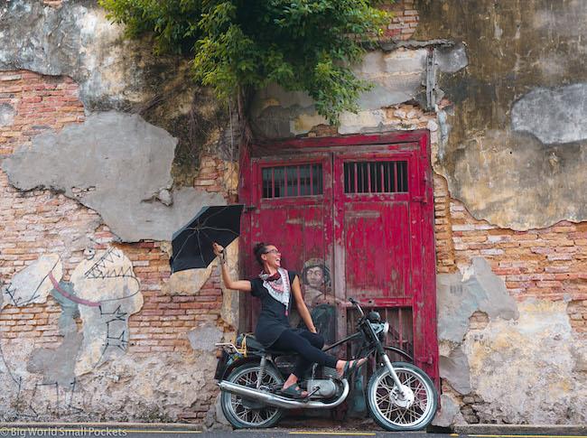 Malaysia, Georgetown, Me on Bike