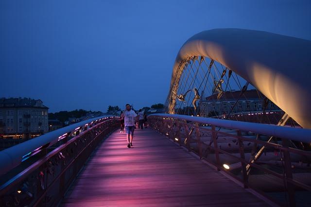 Poland, Krakow, Bridge