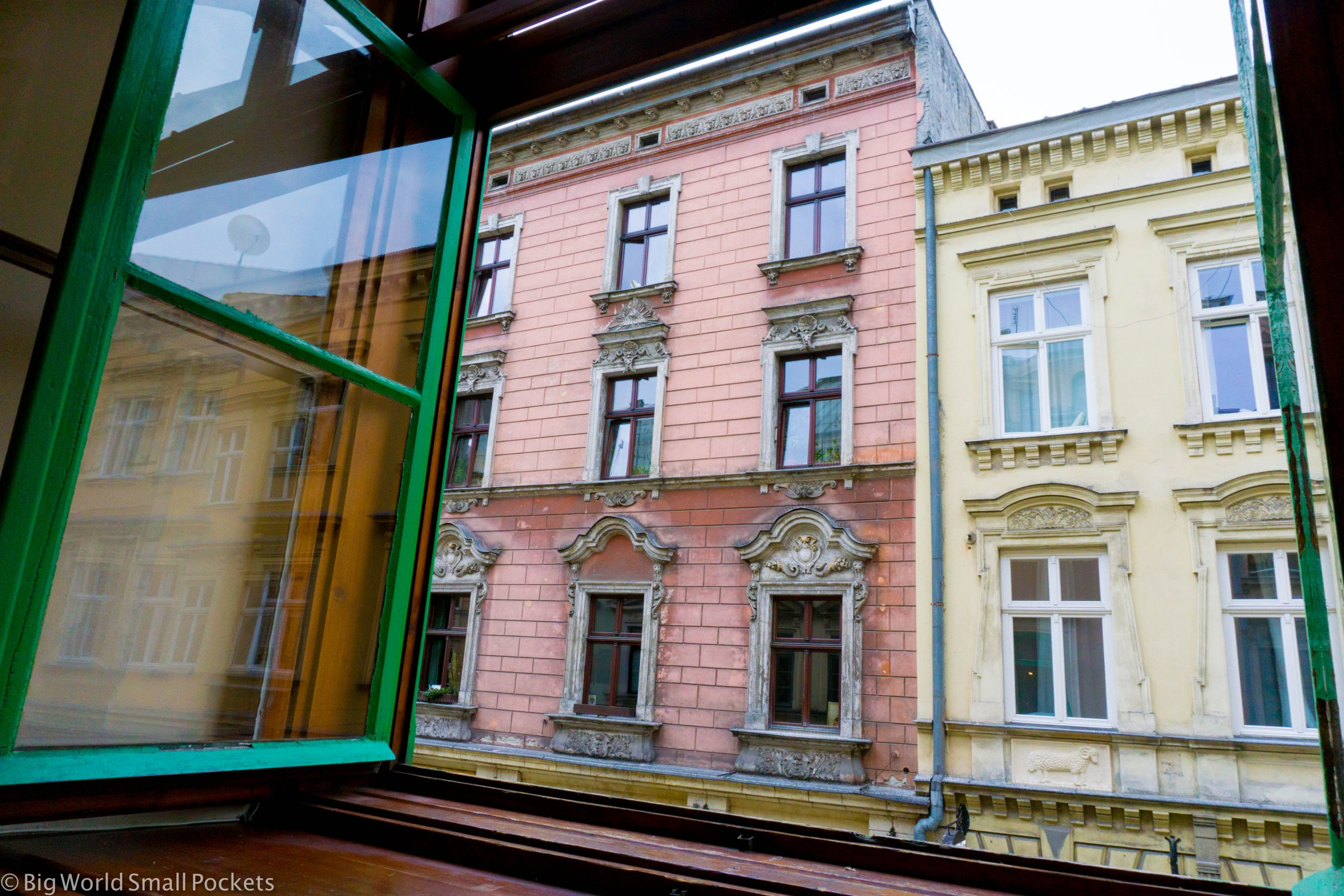 Poland, Krakow, Window View
