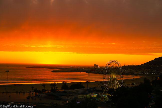 Morocco, Agadir, Sunset