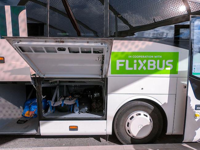Paris to Barcelona, Flixbus, Luggag