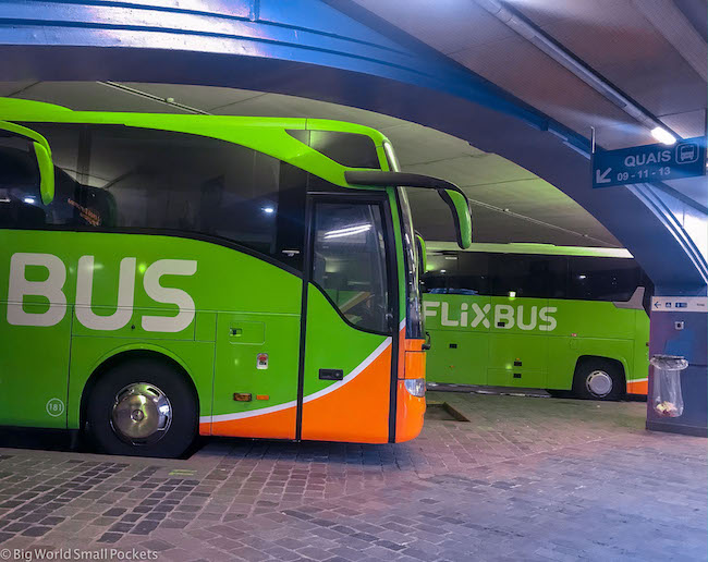 Paris to Barcelona, Flixbus, Bercy Station