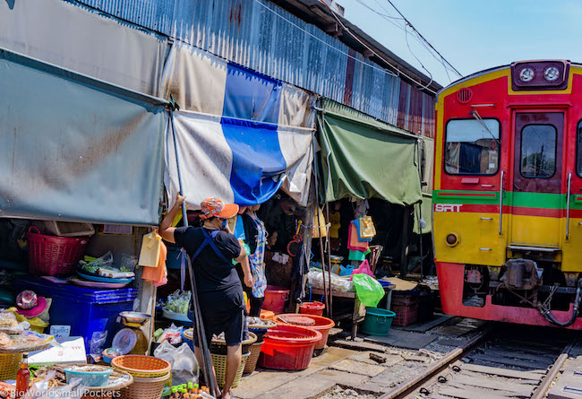 Thailand, Bangkok, Railway Market