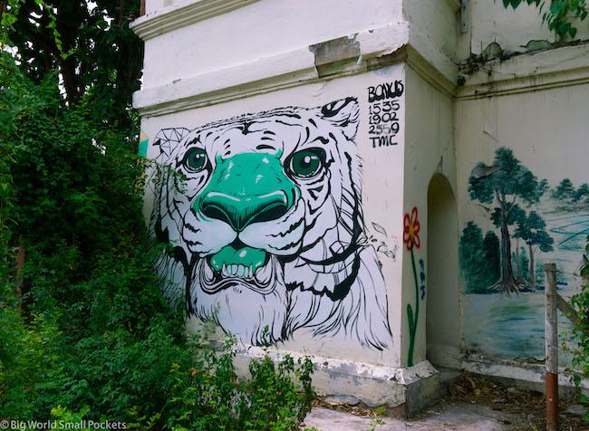 Thailand, Chiang Mai, Street Art Prison Tower