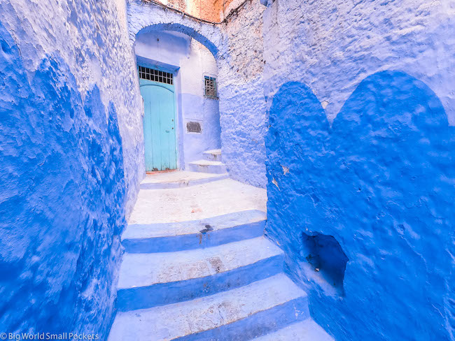 Morocco, Chefchaouen, Blue Pearl
