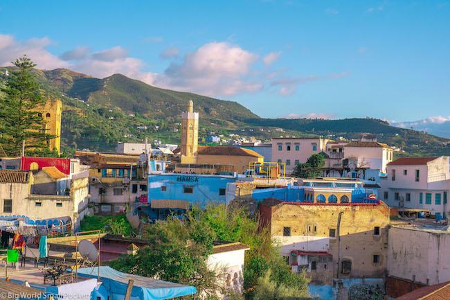 Morocco, Chefchaouen, City View