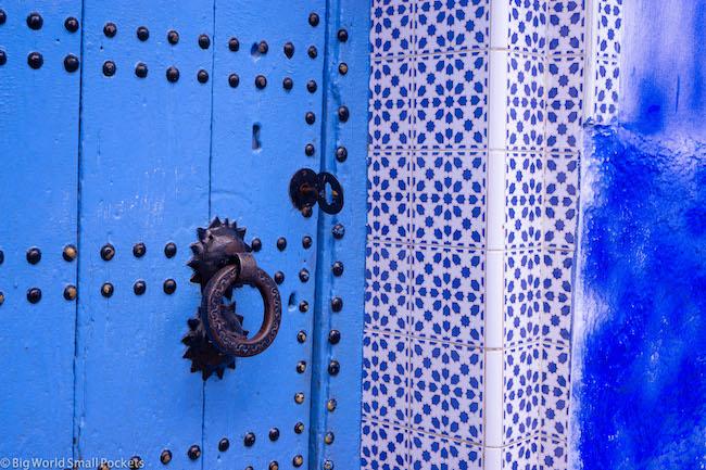 Morocco, Chefchaouen, Door