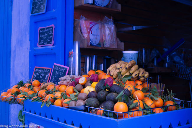 Morocco, Chefchaouen, Fruit Stall