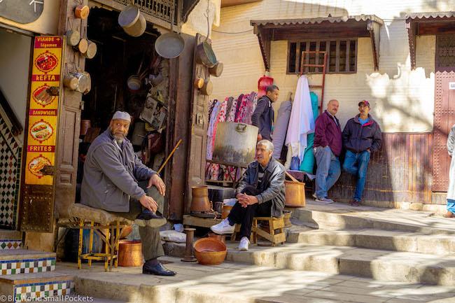 Morocco, Fez, Men in Medina