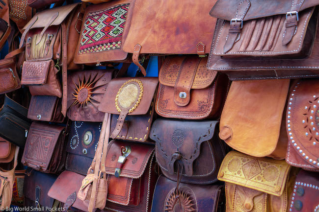 Morocco, Souk, Leather Bags