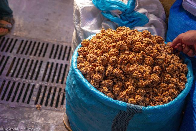 Morocco, Souk, Walnuts