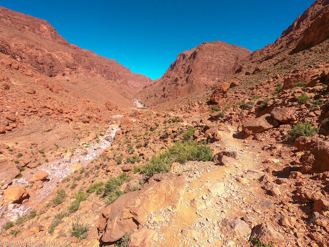 Morocco, Todra Gorge, Hiking Trail
