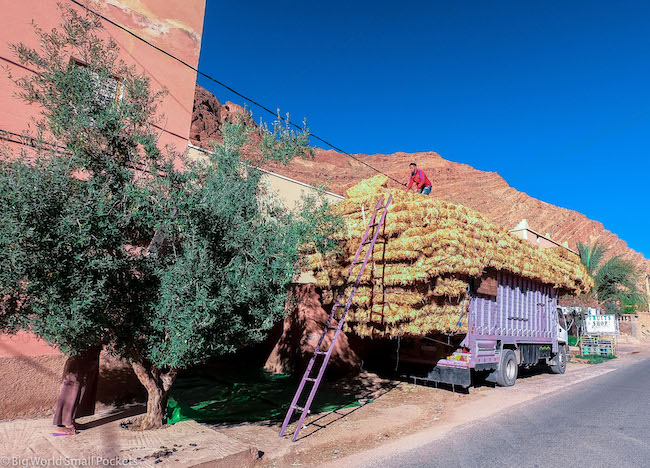 Morocco, Todra Gorge, Lorry