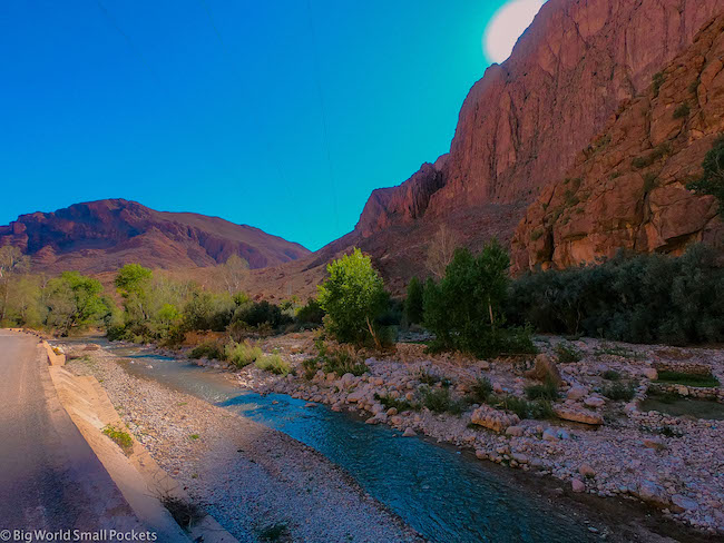 Morocco, Todra Gorge, River