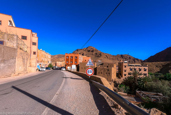 Morocco, Todra Gorge, Road In