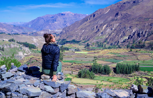 Peru, Colca Canyon, Me at Lookout