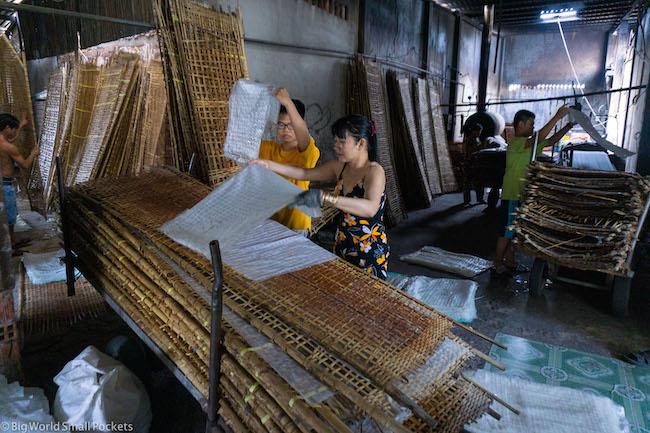 Vietnam, HCMC, Rice Noodle Factory