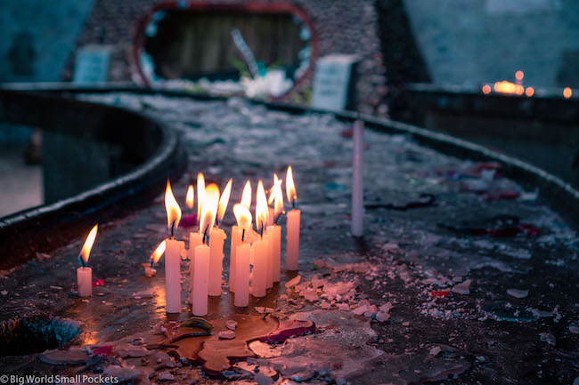 Bolivia, Copacabana, Candles