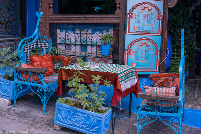 Morocco, Chefchaouen, Restaurant