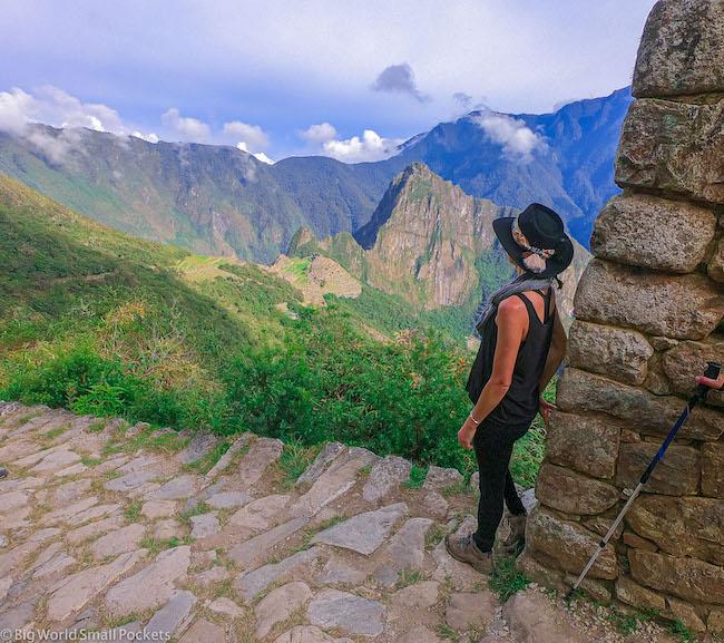 Peru, Machu Picchu, Me By Wall