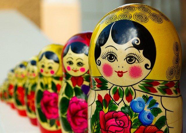 Russia, Dolls, Line