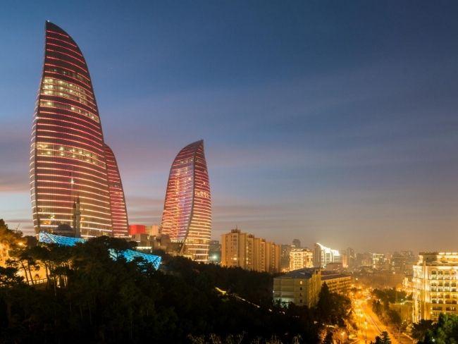 Azerbaijan, Baku, Flaming Towers