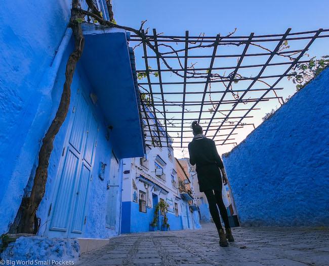 Morocco, Chefchaouen, Me Walking