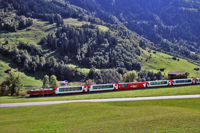 Switzerland, Alps, Train
